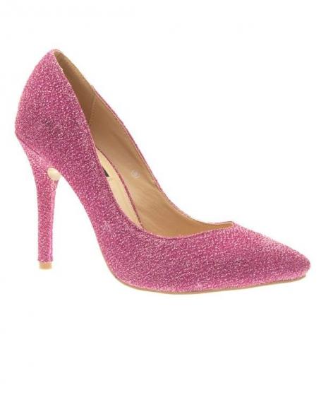 Chaussures femme Style Shoes: Escarpins pailleté fuchsia