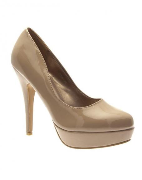 Chaussures femme Style Shoes: Escarpins vernis kaki