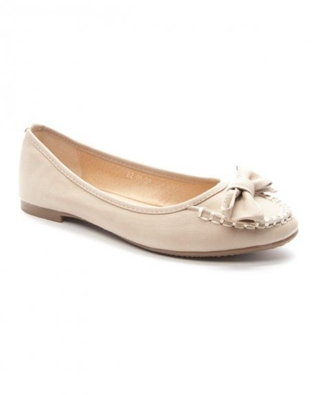 Chaussures femme Style Shoes: Mocassin beige