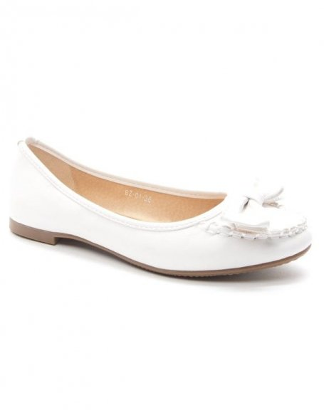 Chaussures femme Style Shoes: Mocassin blanc