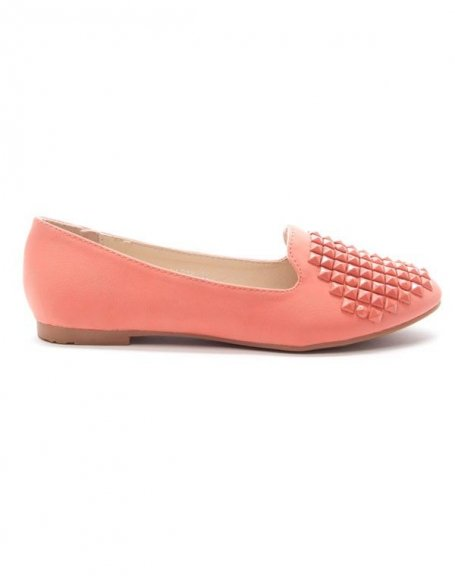 Chaussures femme Style Shoes: Mocassin corail