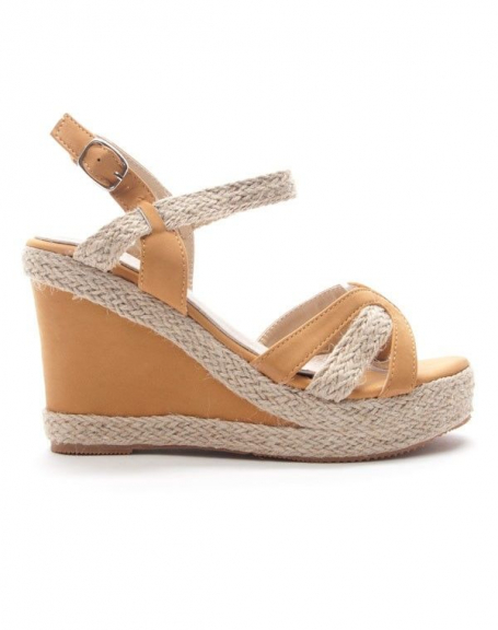 Chaussures femme Style Shoes: Sandale compensée camel