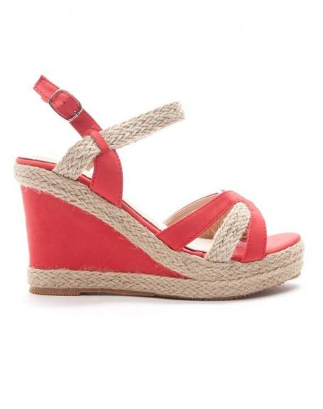 28581863f0a Chaussures femme Style Shoes  Sandale compensée corail