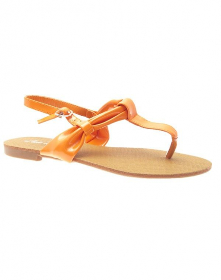 Chaussures femme Style Shoes: Tong oranges