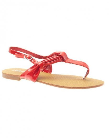Chaussures femme Style Shoes: Tong rouge