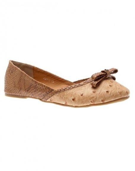 Chaussures femme Sunrise C: Ballerine camel