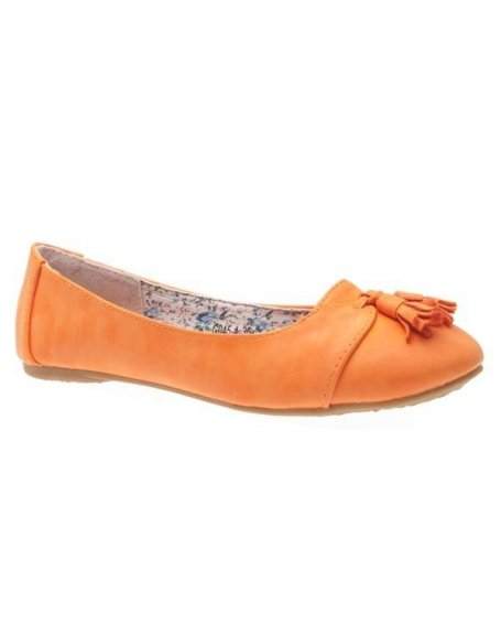 Chaussures femme Sunrise C: Ballerine orange