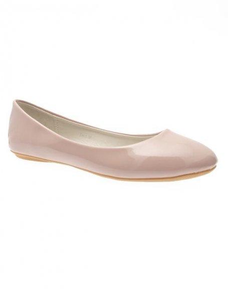 Chaussures femme Sunrise C: Ballerines vernis beige