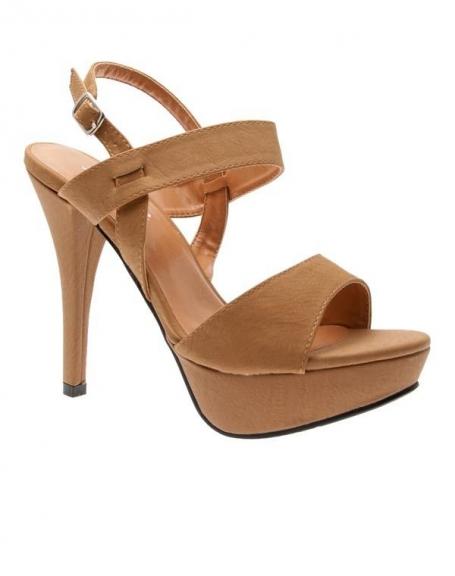 Chaussures femme Sunrise C: Escarpin ouvert camel