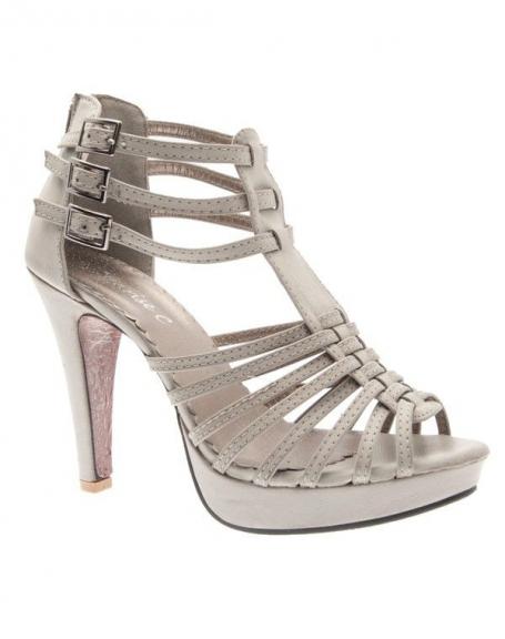 Chaussures femme Sunrise C: Escarpin ouvert gris