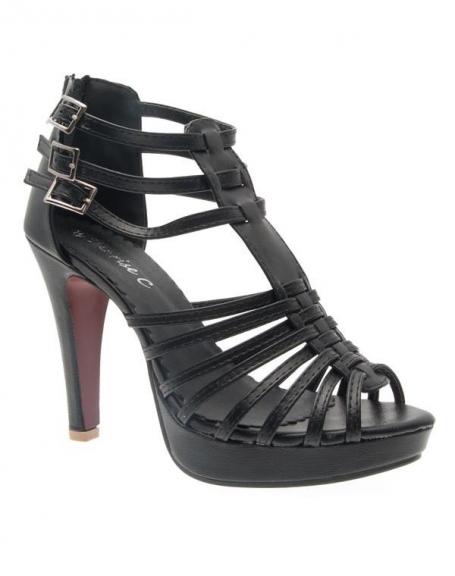 Chaussures femme Sunrise C: Escarpin ouvert noir