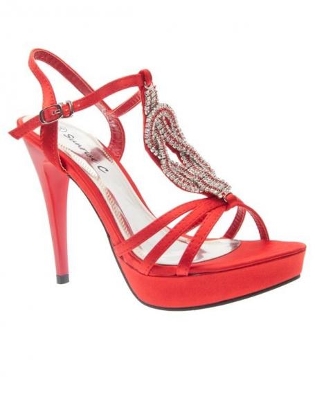 Chaussures femme Sunrise C: Escarpin ouvert rouge