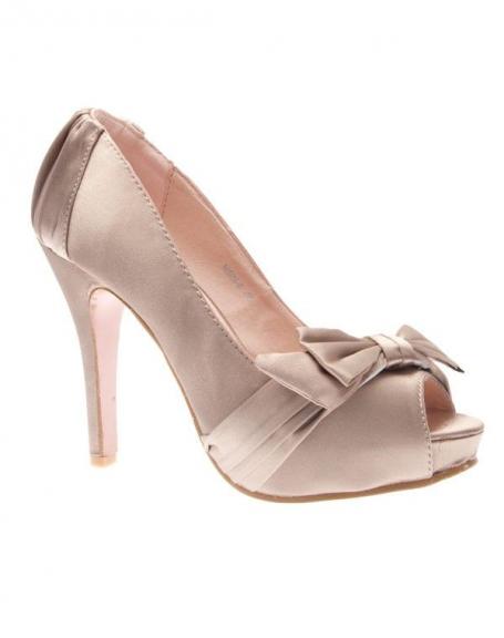 Chaussures femme Sunrise C: Escarpin satiné champagne