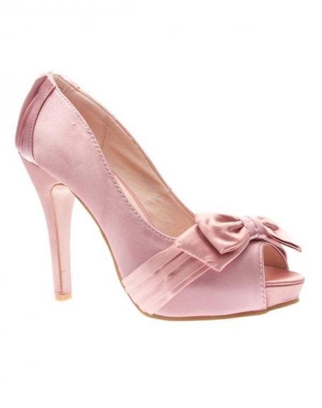 Chaussures femme Sunrise C: Escarpin satiné rose