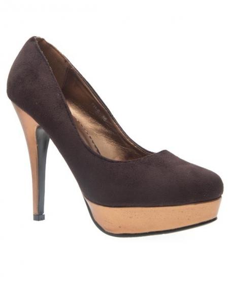 Chaussures femme Sunrise C: Escarpins café