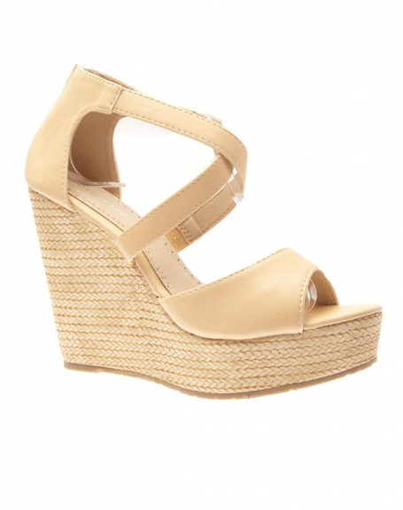 Chaussures femme Sunrise C: Escarpins compensés beige
