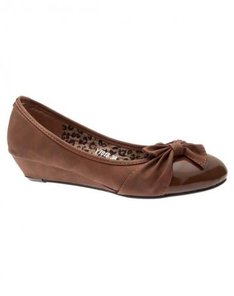 Chaussures femme Sunrise C: Escarpins compensés camel