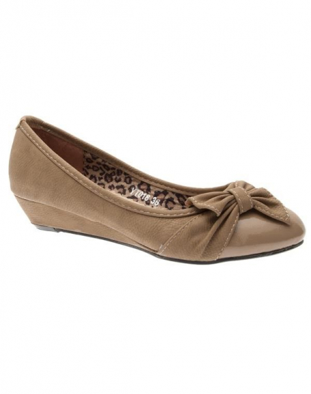 Chaussures femme Sunrise C: Escarpins compensés kaki