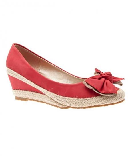 Chaussures femme Sunrise C: Escarpins compensés rouge