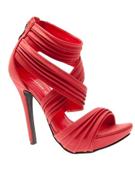 Chaussures femme Sunrise C: Escarpins ouvert rouge