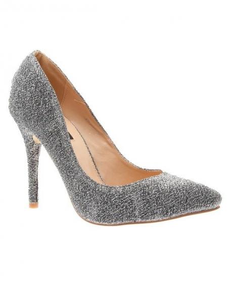 Chaussures femme Sunrise C: Escarpins pailleté argent