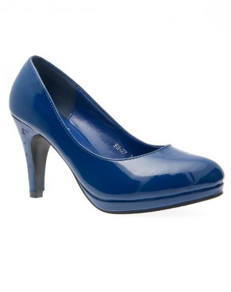 Chaussures femme Sunrise C: Escarpins vernis bleu