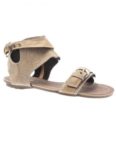 Chaussures femme Sunrise C: Tong beige