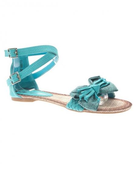 Chaussures femme Sunrise C: Tong bleu