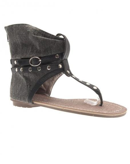 Chaussures femme Sunrise C: Tong noir