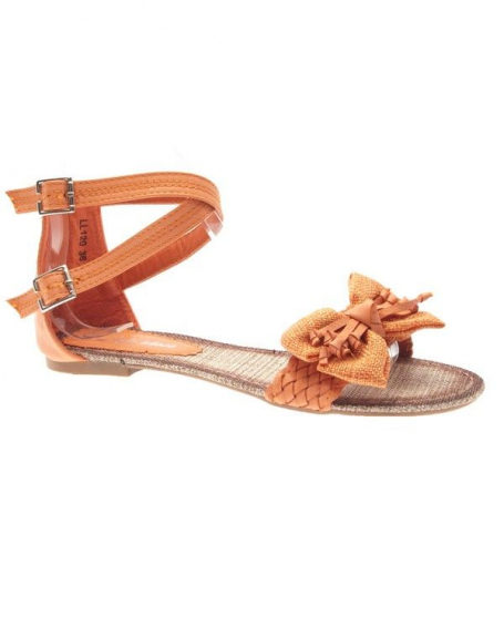Chaussures femme Sunrise C: Tong orange
