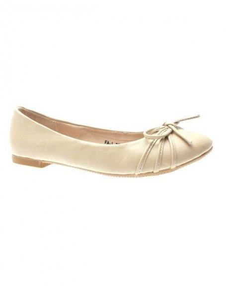Chaussures femme Suredelle: Ballerines abricot
