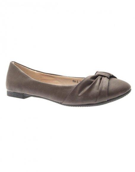 Chaussures femme Suredelle: Ballerines kaki