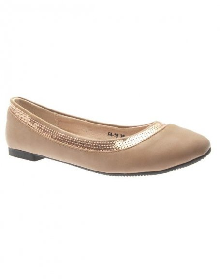 Chaussures femme Suredelle: Ballerines kaki bande pailletée