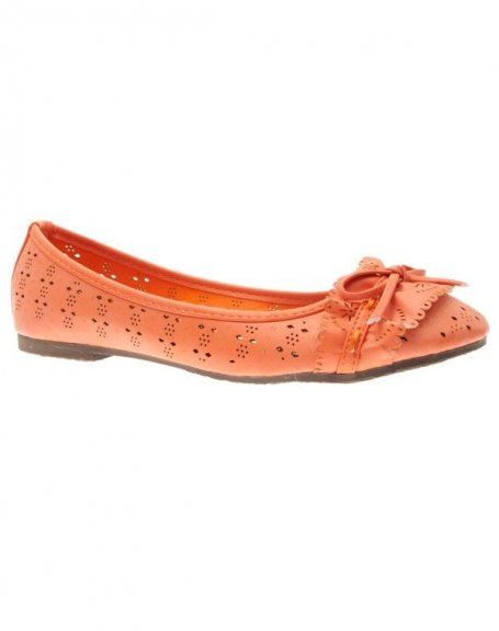 Chaussures femme Suredelle: Ballerines orange
