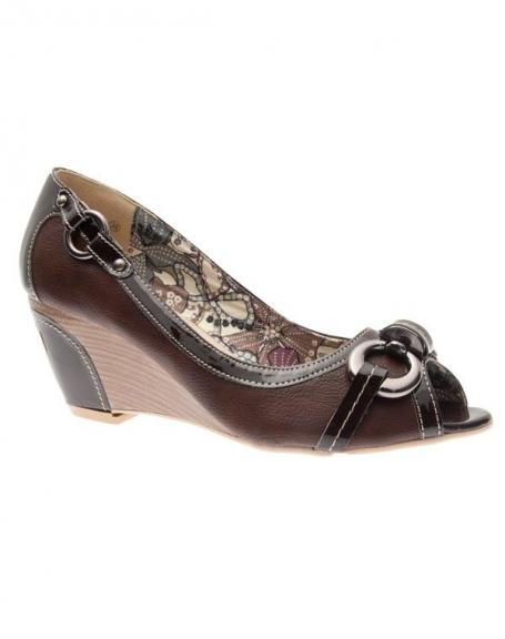 Chaussures femme Suredelle: Escarpins compensé marron