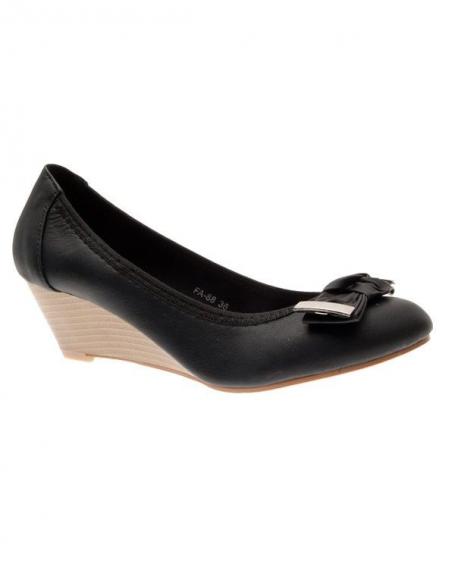 Chaussures femme Suredelle: Escarpins compensés noires