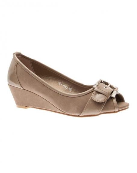 Chaussures femme Suredelle: Escarpins compensés taupe