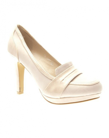 Chaussures femme Suredelle: Escarpins mocassins beiges