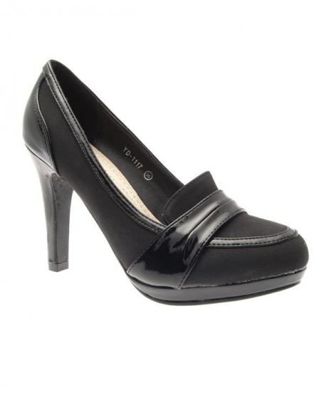 Chaussures femme Suredelle: Escarpins mocassins noirs