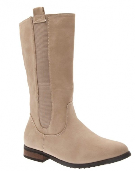 Chaussures femme Top Or: Bottes beige
