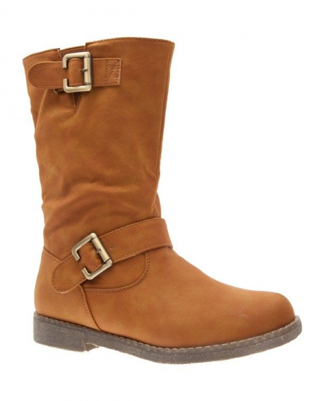 Chaussures femme Top Or: Bottes camel