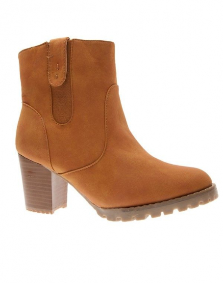 Chaussures femme Top Or: Bottines camel