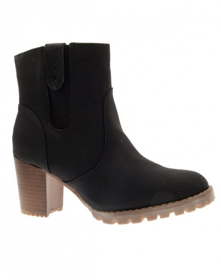 Chaussures femme Top Or: Bottines noires