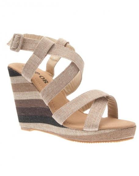 Chaussures femme Top Or: Escarpins ouvert beige