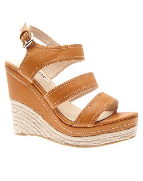 Chaussures femmes Raxmax: Escarpins compensés à brides