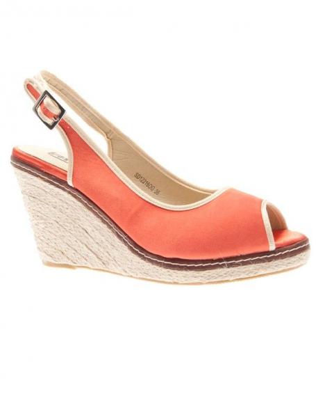 Chaussures femmes Raxmax: Escarpins ouverts compensées