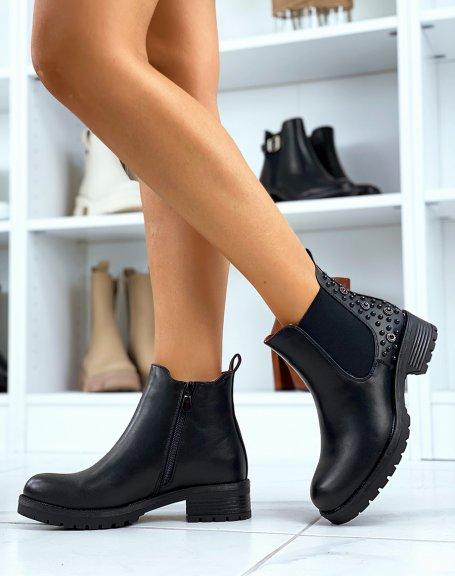 Chelsea boots noire à ornements