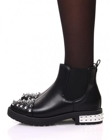 Chelsea boots noirs à clous