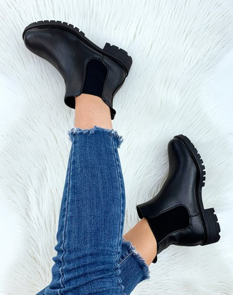 Chelsea Boots noirs plates