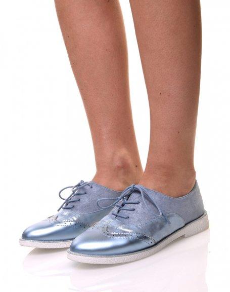 Derbies bleu effet suédine